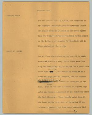 Primary view of object titled '[News Script: Barbaree area]'.