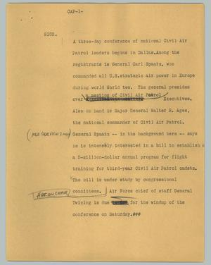 Primary view of object titled '[News Script: CAP]'.