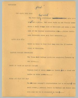 Primary view of object titled '[News Script: Riverside]'.