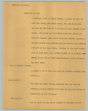 Primary view of object titled '[News Script: Outdoors]'.
