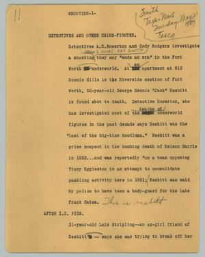 Primary view of object titled '[News Script: Detectives and other crime-fighter]'.