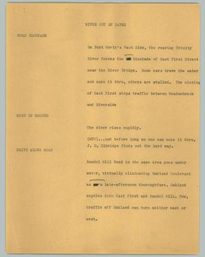 Primary view of object titled '[News Script: River out of banks]'.