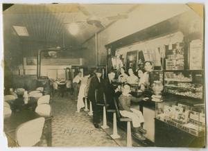 Primary view of object titled '[Cuellar Café interior in 1935]'.