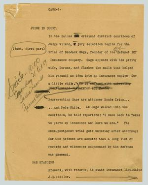 Primary view of object titled '[News Script: Judge in court]'.