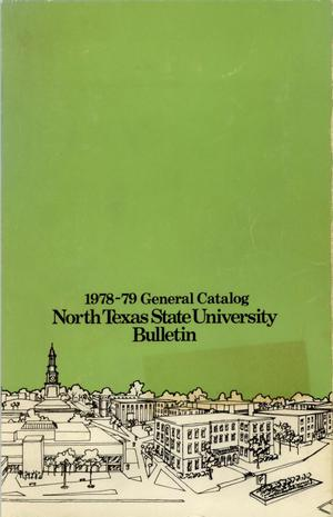 Primary view of object titled 'Catalog of North Texas State University, 1978-1979'.