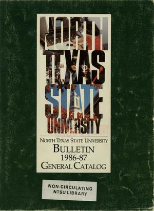 Primary view of object titled 'Catalog of North Texas State University, 1986-1987'.