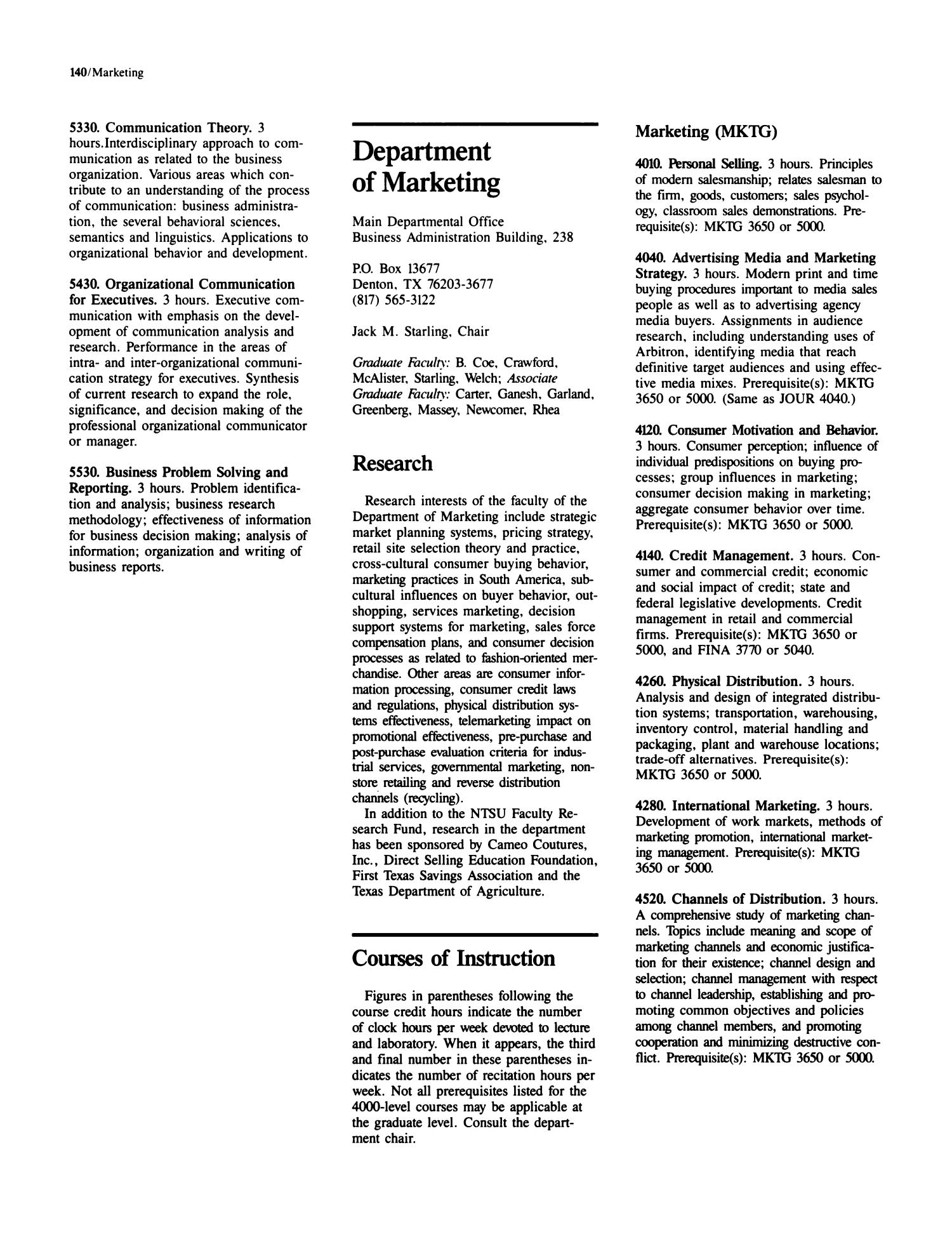 Catalog of North Texas State University, 1987-1988, Graduate - Page