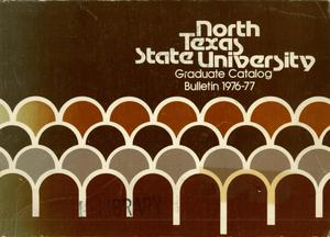 Primary view of object titled 'Catalog of North Texas State University, 1976-1977, Graduate'.