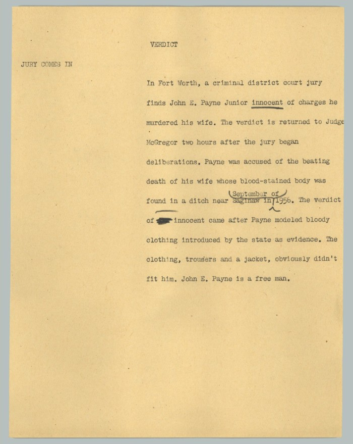 News Script: Verdict] - The Portal to Texas History