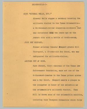 Primary view of object titled '[News Script: Crimemobile]'.