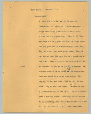 Primary view of object titled '[News Script: News brief --hunter]'.