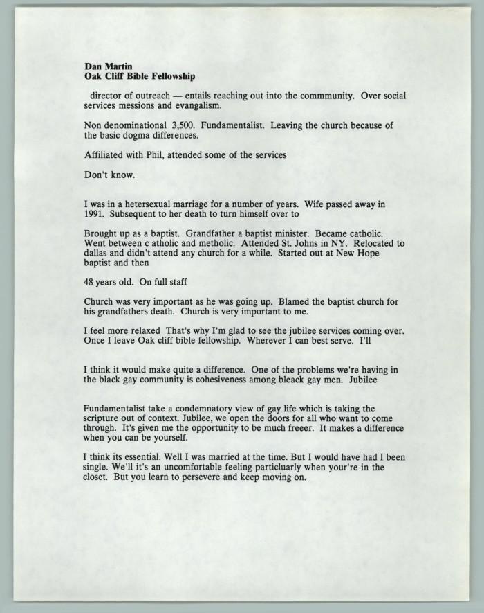 Document: Dan Martin Oak Cliff Bible Fellowship] - The Portal to