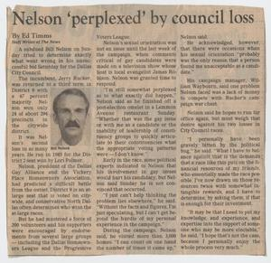 Primary view of object titled 'Nelson 'perplexed' by council loss'.