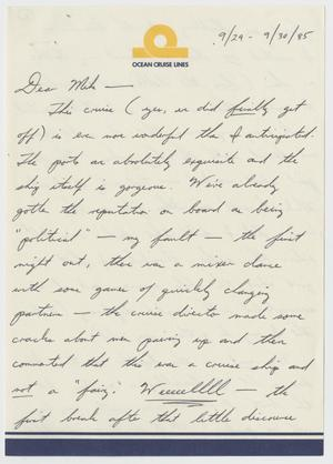 Primary view of object titled '[Letter: Bill to Mike]'.