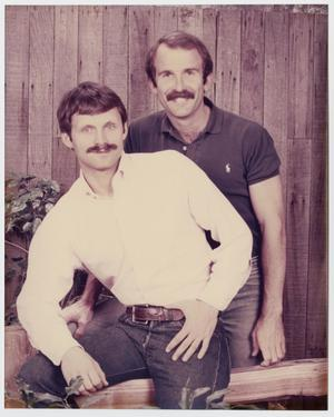 Primary view of object titled '[Terry Tebedo and Bill Nelson posing as couple]'.