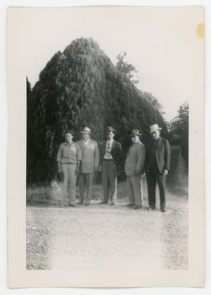 Primary view of object titled '[Five men posing]'.