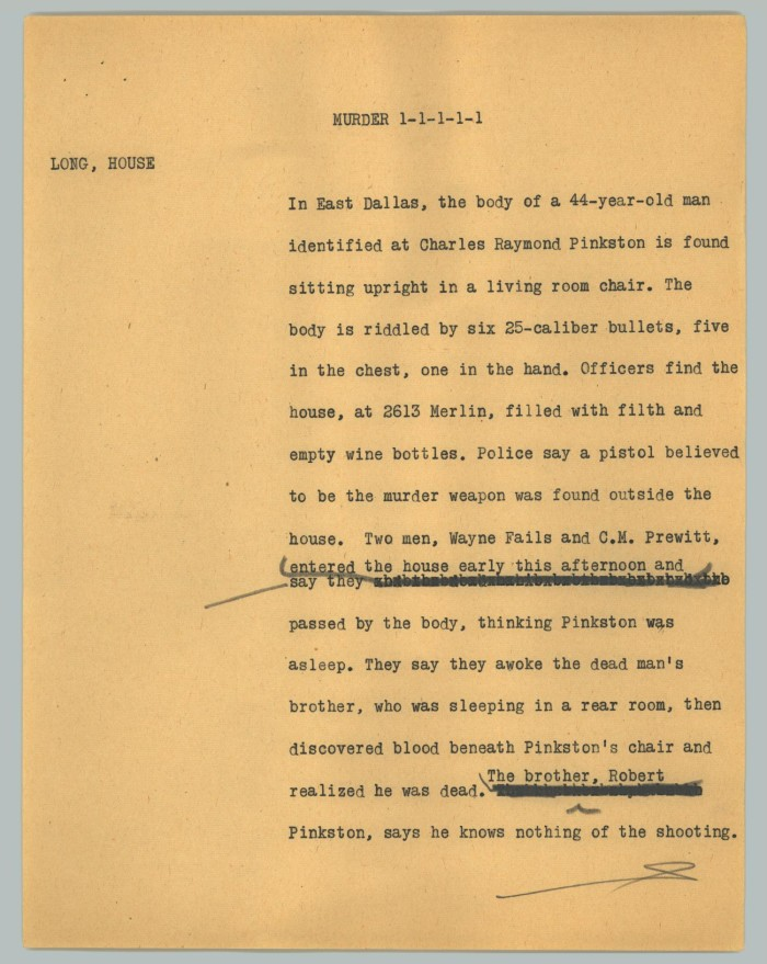News Script: Murder] - The Portal to Texas History