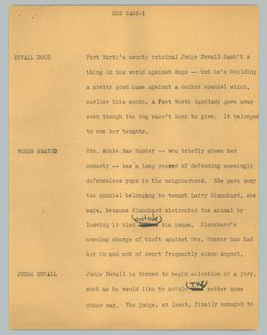 Primary view of [News Script: Dog case]