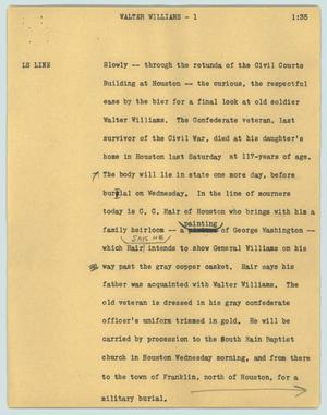 Primary view of object titled '[News Script: Walter Williams] UNTA_AR0787-011-1959-12-21-03'.