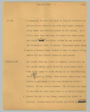 Primary view of object titled '[News Script: Rampant negro]'.