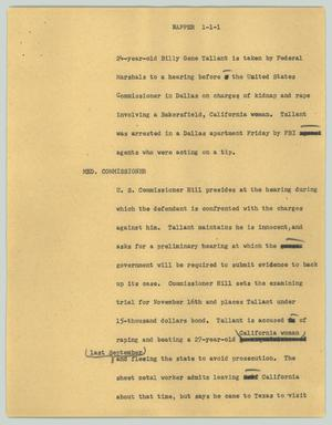 Primary view of object titled '[News Script: Napper]'.