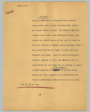 Primary view of object titled '[News Script: Negro]'.
