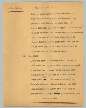 Primary view of object titled '[News Script: Sound coming]'.