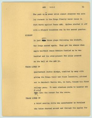 Primary view of object titled '[News Script: A&M]'.