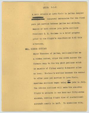 Primary view of object titled '[News Script: Delta]'.