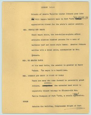Primary view of object titled '[News Script: Lyndon]'.