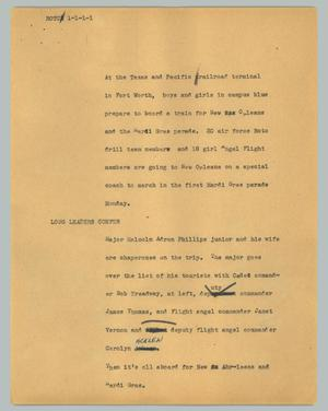Primary view of object titled '[News Script: ROTC]'.