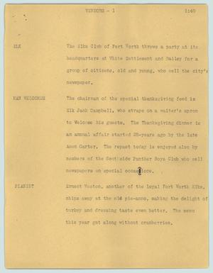 Primary view of object titled '[News Script: Vendors]'.