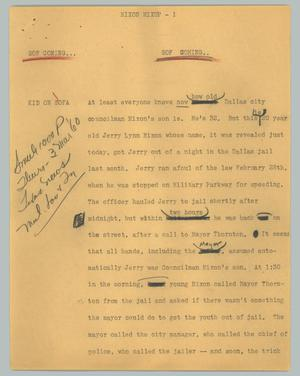 Primary view of object titled '[News Script: Mixon mixup]'.