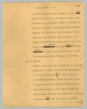 News Script: Arl. murder, Arlington murder, NBC News Scripts