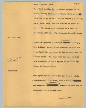 Primary view of object titled '[News Script: Ramsey murder trial]'.