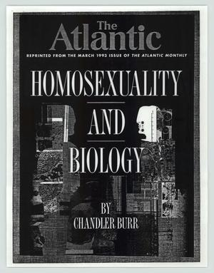 Primary view of object titled 'Homosexuality and biology'.