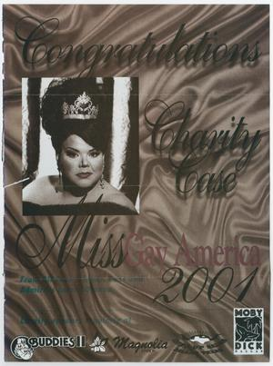 Primary view of object titled '[Flyer: Miss Gay America]'.