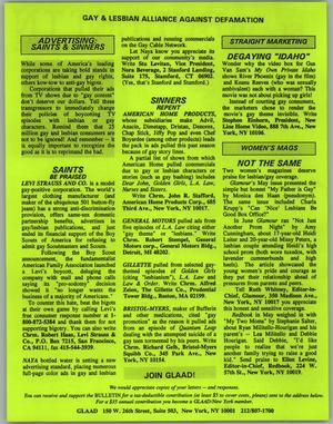 Gay and lesbian newsletters