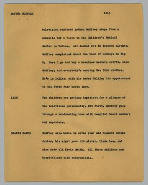 Primary view of object titled '[News Script: Arthur Godfrey]'.