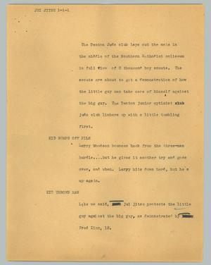 Primary view of object titled '[News Script: Jui jitsu]'.