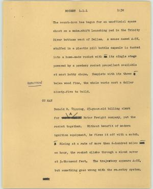 Primary view of object titled '[News Script: Rocket]'.