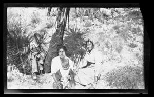 Primary view of object titled '[A small family in the desert]'.