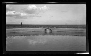 Primary view of object titled '[A fountain in a water hole]'.