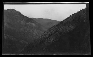 Primary view of object titled '[Photo of a mountain landscape]'.