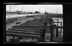Primary view of object titled '[Construction of a pier]'.