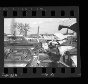 Primary view of object titled '[Landscape of a junkyard]'.