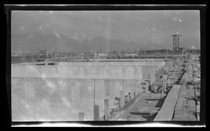 Primary view of object titled '[Photo of a large construction site]'.