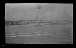 Primary view of object titled '[Photo of boats]'.