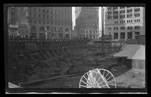 Primary view of object titled '[Construction site in San Francisco]'.