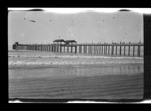 Primary view of object titled '[Photo of a pier over an ocean]'.